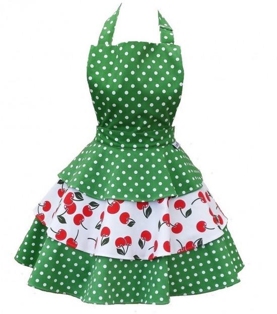 cherry bakes well womens rara apron let 39 s jive. Black Bedroom Furniture Sets. Home Design Ideas