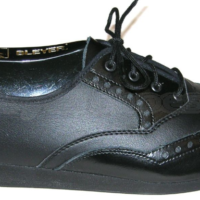 Gentlemen/'s Black Leather Lace Up Dance Shoes with Memory Foam Innersole
